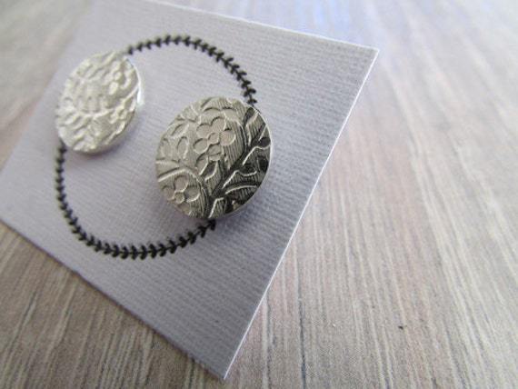 Floral studs flower stud earrings Round studs round pattern studs pattern posts round earrings  flower jewelry bridesmaids gifts