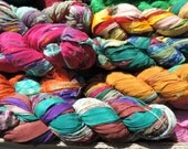 Pure Silk Chiffon Ribbon Multi Colored With Patterns 75 To 80 Yards Some With Jewels It Is The Wow Factor