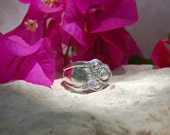 Vintage Spoon Ring....AMERICAN BEAUTY ROSE 1909 by 1847 Rogers Bros, size 9.25...item number 24a