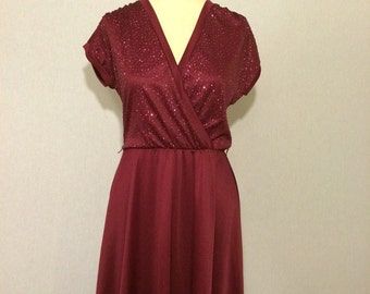 Vintage Glittered Casual 70s/80s Party Dress