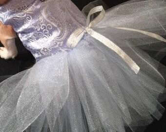 Something Blue, bride dress, tutu dress flowergirl dress, bridesmaid dog dress, elegant formal dog dress, custom  dress, dainty dog dress