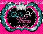Custom dot ruffle pants pink and blue see notes  (Staci)