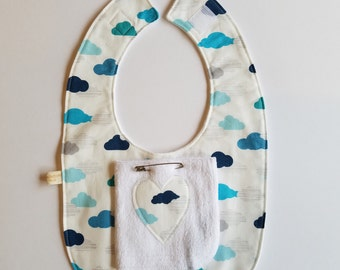 Cloud baby bib