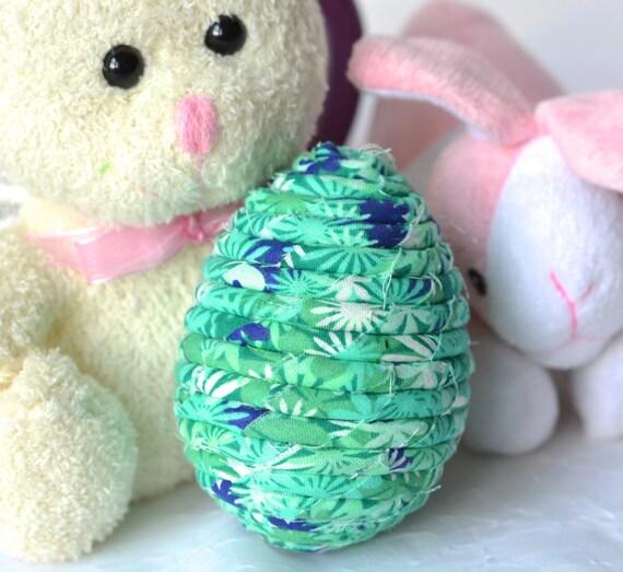 Easter Basket Filler, Handmade Easter Egg Decoration, Green Floral Easter Egg, Cute Bowl Filler, Fun Easter Egg Hunt Egg