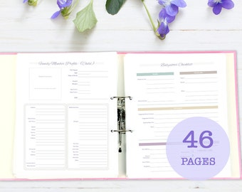 Household Binder, printable
