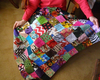 Lap Quilt Patchwork Throw Blanket