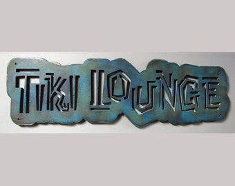 Tiki Lounge Wood Sign CLEARANCE