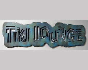 Tiki Lounge Wood Sign CLEARANCE