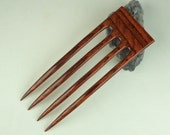 Reserved for Happycrafting  4 Prong Hair Fork made from Rosewood  DymondWood-  Very durable. Water resistant.