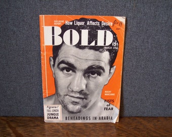Vintage Bold Men's Pocket Magazine 1954