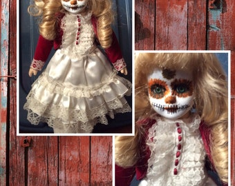 Porcelain Day of the Dead Doll