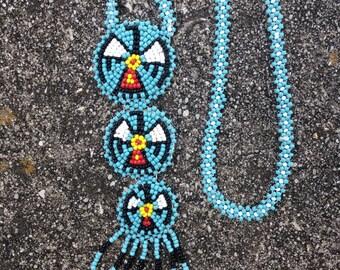 Vintage Alexis Kirk Beaded Southwestern Necklace