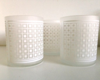 Georges Briard White Geometric Pattern Glasses