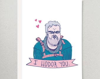 Game of Thrones Hodor Greeting Card