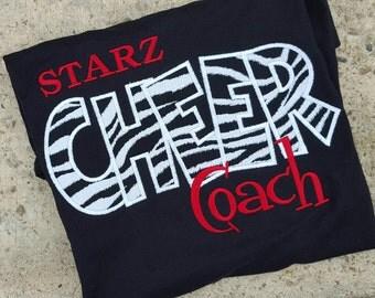 Custom Cheer Coach Team Shirt