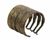 Big Brass Cuff - Chunky Brass Cuff - Vanilla Pod - Metal Cuff - Boho Jewelry