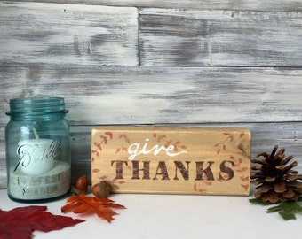 Fall Decor, rustic Thanksgiving decoration, hand painted, Ooak, one of a kind
