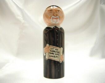 Saint Vincent De Paul - Catholic Saint Wooden Peg Doll Toy - made to order