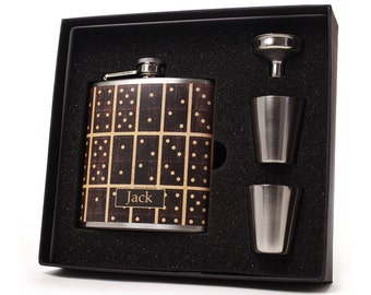 Dominoes Liquor Flask Gift Set