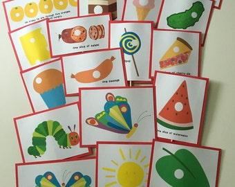HUNGRY CATERPILLAR Inspired Food Picks for Birthday Party Food or Snack Table