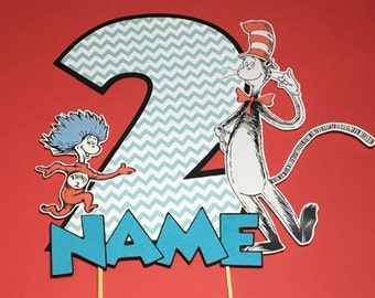 Cat in the Hat Cake Topper for Birthday Party - Dr. Seuss