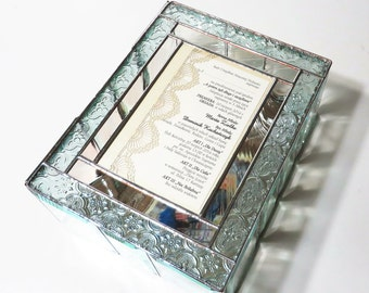 Stained Glass Keepsake Gift Box Wedding Invitation Wedding Reception Card Holder 50th Anniversary Handmade Made-to-Order