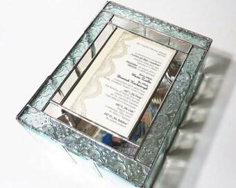 Stained Glass Keepsake Gift Box Wedding Invitation Wedding Reception Card Holder 50th Anniversary Handmade Made-to-Order