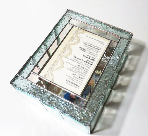 Gift Box Wedding Invitations: Stained Glass Keepsake Gift Box Wedding Invitation Wedding