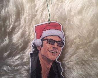 Jurassic Park Ian Malcom Christmas ornament