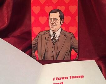 Brick Anchorman Valentine's Day card