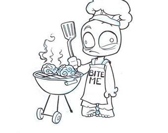 Zombie BBQ: Original Inks
