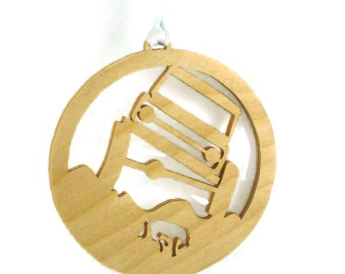 Ford Bronco Rock Crawler Christmas Ornament Handcrafted  from Birch Wood