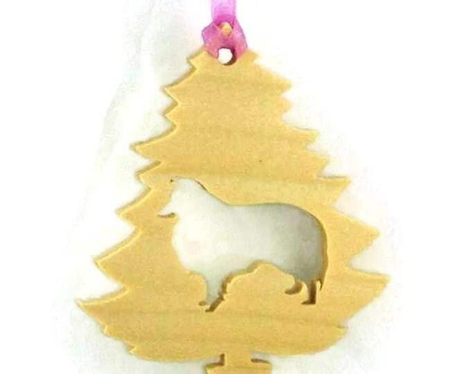 Sheltie, Shetland Sheepdog Christmas Ornament Handmade From Poplar Wood, Christmas Decoration