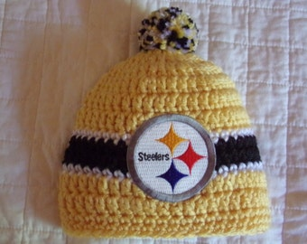 Steelers Baby hat for Newborn - Pittsburgh team colors
