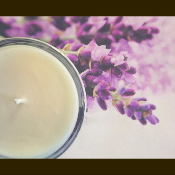 Lavender - Pure essential oil soy candle, natural home fragrance, aromatherapy, relaxing candle, gift idea, gift for her
