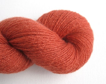 Lace Weight Recycled Cashmere Yarn, Terracotta, Lot 150216