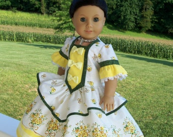 PDF  Sewing Pattern / COLONIAL ROSE Gown & Crinoline for American Girl or Maru and Friends Dolls