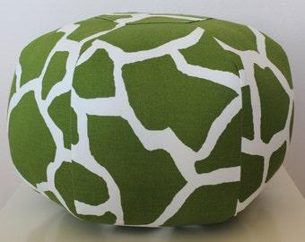 Green giraffe pouf / SMALL / ready to ship / floor pillow / ottoman / cushion / mini pouf / home decor / unique / stool / morrocan pouf