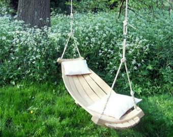 Steam Bent Oak Tree Swing with Rope