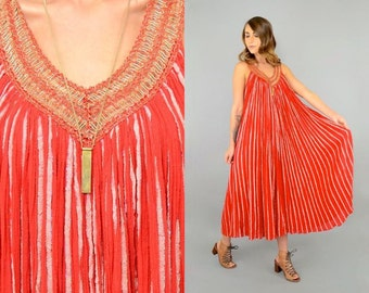 70's Grecian Cotton Gauze Ensemble