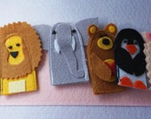 5 Finger Puppets Quiet Book Page / Quiet Book / Quiet Activity Book / Birthday Gift For Toddler / Learning Book / Childrens Book /Felt Book