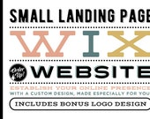 Custom Small Website Landing Page Design - Includes PreDesigned Logo - Single Page Website Design Package - Custom Wix WebDesign Package