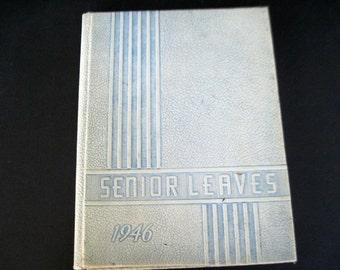 Senior Leaves, Vintage Yearbook, 1946 Yearbook, Frewsburg High, New York Yearbook, Frewsburg New York, Vintage Annual, High School Yearbook
