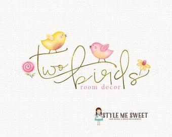 bird logo design flower logo design whimsical logo design premade logo design photography logo gold logo design boutique logo design