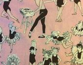 Fall Sale - Ballet Class Pink - Alexander Henry - Quilting Cotton - 1 yard