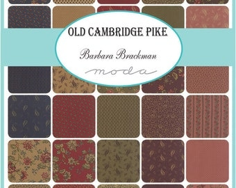 "Moda Fabrics Old Cambridge Pike Charm Pack, (42) 5"" Quilt Fabric Squares by Barbara Brackman Quilting Sewing Civil War Fabric"