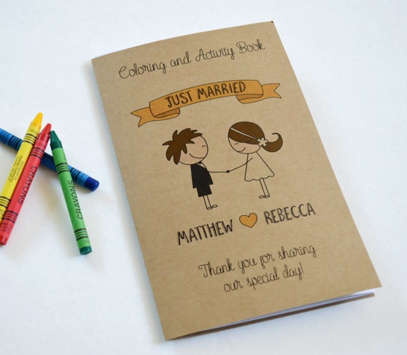 Personalized Kids Wedding Coloring Book By ClaudiaCurtiDesigns