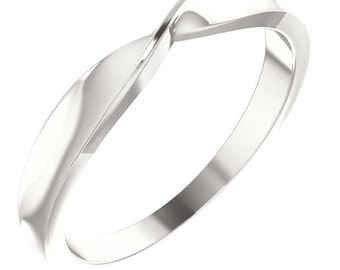 Sterling Silver Twisted Stackable Ring