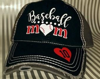 ORIGINAL DESIGN, Distressed Vintage Style Hat, Baseball Mom Hat, Softball Mom Hat, Baseball Sister Hat