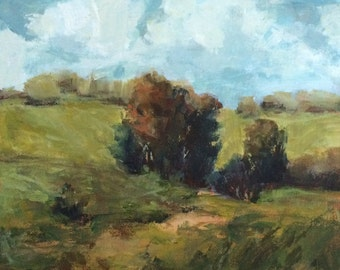 Somewhere Between - 8x10 inches - ORIGINAL Landscape Painting